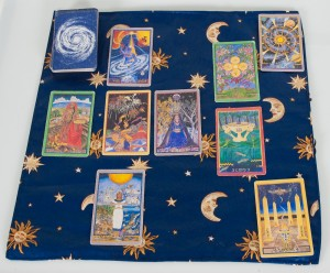 Moon, Sun, and Stars Spread Cloth