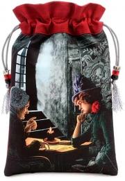 Bohemian Gothic Tarot Reader Drawstring Bag