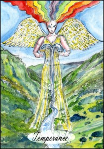 Temperance from The Tarot of the Black Mountain