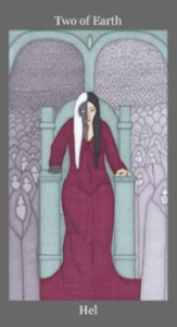 Hel, Two of Earth - Dark Goddess Tarot