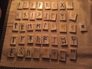 Finished Runes in Candle Light